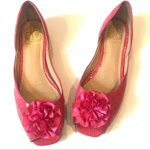 Vintage Lilly Pulitzer lady Mary pink flats. Sz 9